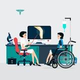 Kości lekarka ilustracji