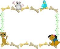 kości obramiają zwierzęta domowe royalty ilustracja
