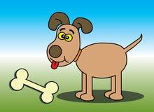 kości szczęśliwy psi Zdjęcia Royalty Free