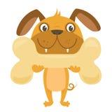 kości szczęśliwy psi Obraz Royalty Free