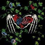 Kościec ręki robi sercu obraz stock