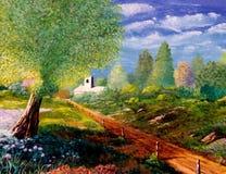 kościelna ścieżka Obrazy Royalty Free