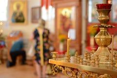 Kościelna świeczka Obrazy Royalty Free
