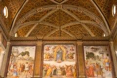 Kościelna dekoracja, Mediolan, Włochy zdjęcia stock