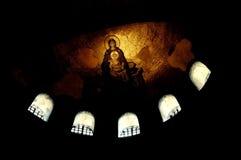 kościelna hagia istanbu mozaiki sophia dziewica zdjęcie stock