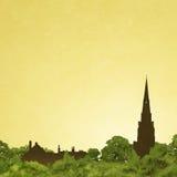 Kościelna iglica ilustracji