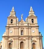 kościelna Malta mellieha parafia zdjęcie royalty free