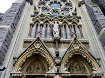 Kościelna pierzeja, Monkstown, Dublin, Irlandia obraz stock