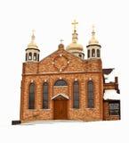 kościelna zima Obrazy Royalty Free