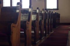 Kościelne ławki Zdjęcie Royalty Free