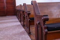 Kościelne ławki Fotografia Royalty Free