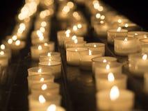 kościelne świece Fotografia Royalty Free