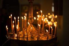 kościelne świece fotografia stock