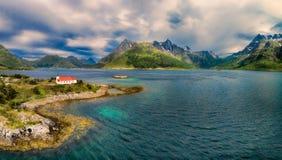 kościelne wyspy lofoten zdjęcia stock