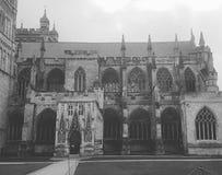 Kościelnego jarda stara historia czarny i biały zdjęcie royalty free