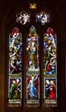 kościelnego szkła pobrudzeni okno Zdjęcia Royalty Free