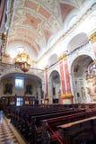 kościelni wewnętrzni jesuits Prague obraz stock