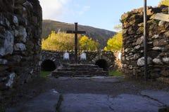 kościelny barra gougane Ireland mały jeden Obraz Stock