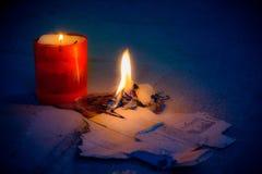 Kościelny candel zdjęcie royalty free