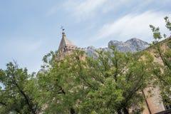 Kościelny Chiesa Santa Maria Maggiore, Oliena, piazza S Maria, na wyspie Sardinia, Włochy fotografia royalty free