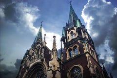 kościelny Croatia makarska oceny kurort sts Olha i Elizabeth zdjęcia stock
