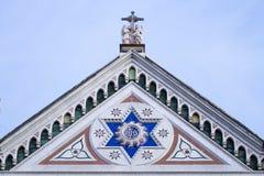 Kościelny dekoracja szczegół maria nowele Santa Zdjęcie Stock
