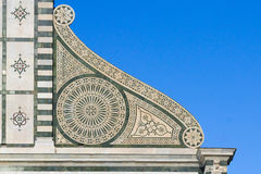 Kościelny dekoracja szczegół maria nowele Santa Obraz Royalty Free