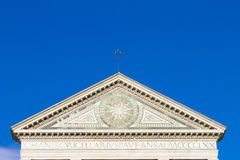 Kościelny dekoracja szczegół maria nowele Santa Zdjęcia Stock