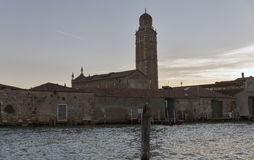 Kościelny della madonny dell ` Orto przy zmierzchem w Wenecja, Włochy Obraz Stock