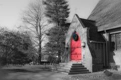 Kościelny drzwi W Fletcher, Pólnocna Karolina obrazy royalty free