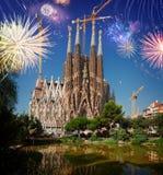 kościelny familia Sagrada zdjęcia royalty free