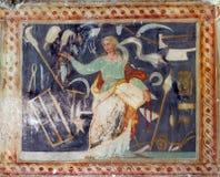 Kościelny fresk zdjęcia royalty free