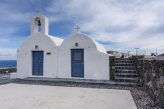 kościelny Greece grecki ia wysp santorini typowy fotografia royalty free