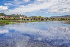Kościelny i rzymski most w Ponte de Lima fotografia royalty free