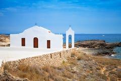 kościelny morze Wybrzeże wyspa Zakynthos Zdjęcie Royalty Free