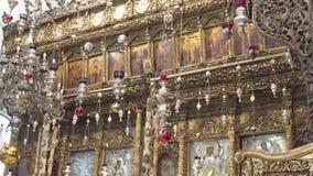 kościelny narodzenie jezusa bethlehem zbiory wideo