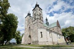 kościelny oknówki opatow Poland s święty Obraz Stock