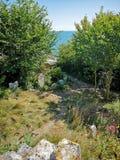 Kościelny Ope zatoczki cmentarz zdjęcia royalty free