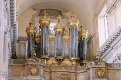 Kościelny organ wśrodku Catania katedry Obraz Royalty Free