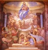 kościelny paiting wnętrza religijny Zdjęcia Stock