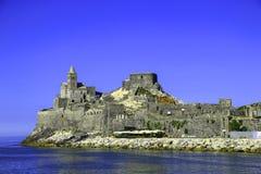 Kościelny San Pietro w Portovenere przy włoszczyzną Riviera, Liguria, Ital Fotografia Stock