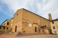 Kościelny Sant Agostino w San Gimignano, Tuscany, Włochy Zdjęcia Royalty Free