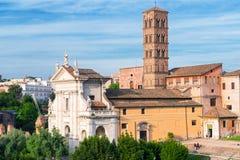 Kościelny Santa Francesca Romana w Romańskim forum, Rzym Fotografia Stock