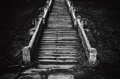 kościelny stary schody Obraz Royalty Free