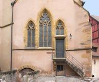 Kościelny szczegół w Colmar Obrazy Royalty Free