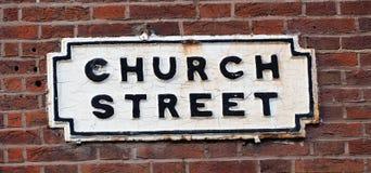 Kościelny Uliczny Liverpool, Drogowy znak zdjęcie royalty free