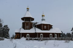 kościelny wiejski drewniany Zdjęcie Stock