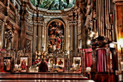 Kościelny wnętrze, Rzym, Włochy Zdjęcia Stock