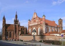 kościoła dwa Obrazy Royalty Free