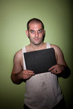 koślawy mężczyzna mugshot uśmiech Obraz Royalty Free